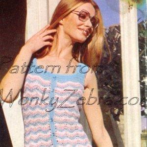 WonkyZebra 158 Ripple Along Dress Patons 3003