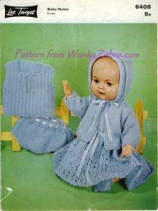 WonkyZebra 223 Dolls Outfit 6408